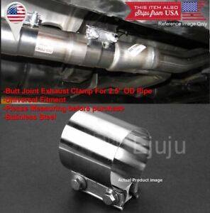 Stainless Butt Joint Clamp Sleeve Band For Dodge 2 5 2 1 2 Exhaust Od Pipe