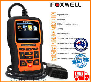 Foxwell Nt510 Obd2 Fault Code Reader Reset Diagnostic Scan Tool Fits Chrysler