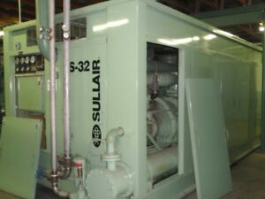 Sullair Ts32 600 Hp Rotary Screw Air Compressor Low Hours Variable Capacity
