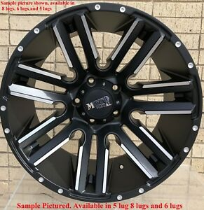 4 New 20 Wheels Rims For Gmc 2011 2017 Sierra 2500 Hd Sle Slt 1228