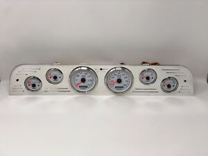 1967 1968 1969 1970 1971 1972 Ford Truck 6 Gauge Dash Cluster Gps White