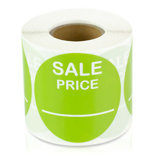Sale Price 2 Lime Pricing Retail Store Stickers Tags Labels Stickers 10 Rolls