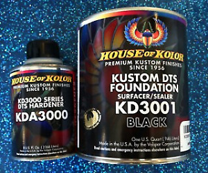 House Of Kolor Kd3001 kda3000 Black Kustom Dts Foundation Surfacer sealers qt
