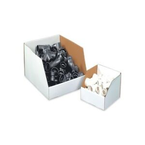thornton s Jumbo Open Top Bin Boxes 12 X 12 X 8 White 25