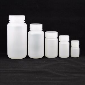 Plastic Reagent Sample Bottles Set 30 60 125 250 500ml Pack Of 10