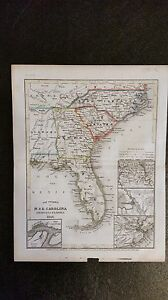 1846 Map Of Southeast United States