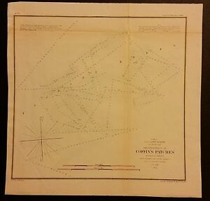 1854 Map Of Coffin S Patches Florida Reefs
