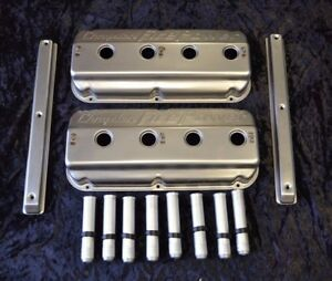 331 354 392 Hemi Valve Covers Unplated With Covers Spark Plug Tubes Kit New