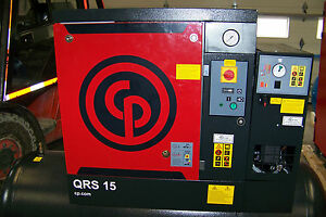 Chicago Pneumatic Qrs 15hp Tm New Rotary Screw Compressor With Air Dryer