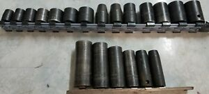 Snap On Assorted Impact Socket Sets Deep Shallow Metric Sae Reduced To 189 99