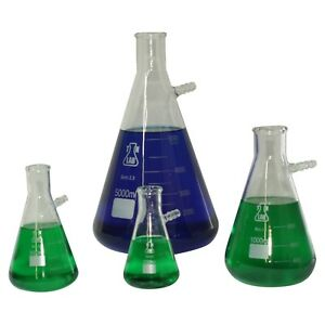 Tn Lab Glass Borosilicate Filter Flask Set 250 500 1000 5000 Ships From Usa