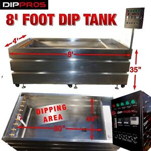 Hydrographic Dip Tank 8 Foot Stainless Water Transfer Hydro Dipping U s Seller