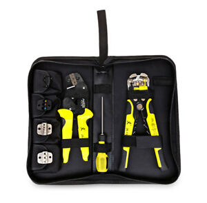 Multifunctional Ratchet Crimping Tool Crimper Wire Stripper Terminal Plier Kit