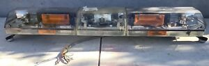Code 3 Pse 47 Excalibur Amber Light Bar New Clear Domes