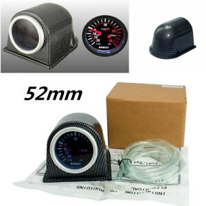 2 52mm Turbo Boost Gauge Psi Carbon Fiber Pod Pointer Display Meter Universal