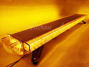 47 Led Strobe Light Bar Amber Emergency Flash Tow plow Truck Top Wrecker Yellow