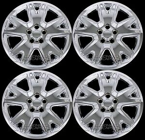 4 New 2013 2018 Escape 17 Bolt On Chrome Hub Caps Full Rim Skins Wheel Covers