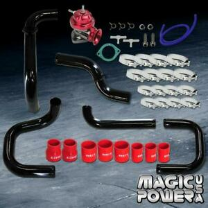 Black Intercooler Piping Red Rs Bov Red Couplers Kit For 1996 2000 Civic