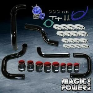 Black Intercooler Piping Blue Rs Bov Couplers Combo Kit For 1994 2001 Integra