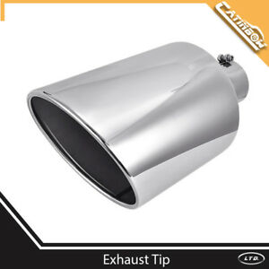 Diesel Stainless Steel Bolt On Exhaust Tip 4 Inlet 10 Outlet 18 Long