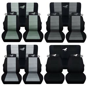 Fits 1994 To 2004 Ford Mustang Coupe Or Convertible Front Rear Horse Seat Covers
