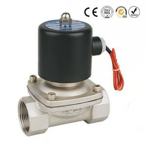 1 1 2 Npt 12v Dc Stainless Steel 304 Electric Solenoid Valve Normally Closed