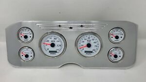 1955 1956 1957 1956 1959 Gmc 6 Gauge Gps Dash Cluster Set Billet Insert White