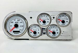 1948 1949 1950 Ford Truck 5 Gauge Gps Dash Cluster White