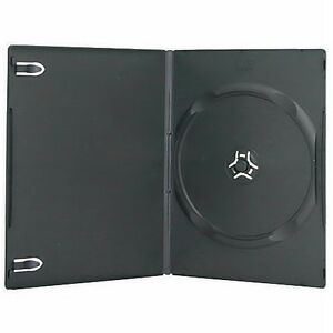 100 New Single Standard 14mm Premium Black Dvd Case Cd Move Discs Holder