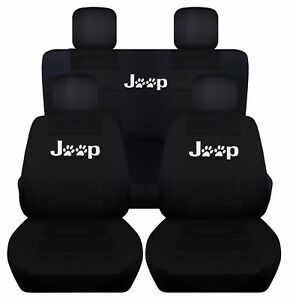 Fits 2010 2017 Jeep Compass Patriot Paw Print Jeep Seat Covers Airbag Friendly