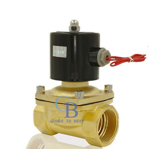 Dc24v 1 1 2 Npt Brass Electric Solenoid Valve For Water Gas Normally Closed