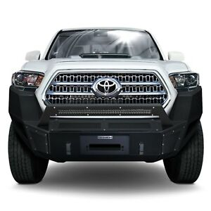 For Toyota Tacoma 16 17 Br5 Replacement Full Width Black Front Winch Hd Bumper