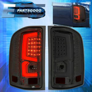 07 13 Chevy Silverado 1500 2500 3500 Steak Led Brake Stop Tail Light Lamps Smoke