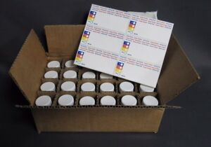 Wheaton 1oz Wide Mouth Glass Amber Bottles W Caps Labels Box Of 24