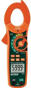 600 Amp True Rms Ac Clamp Meter Auto Ranging Dual Voltage Indication Handheld