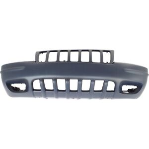 Front Bumper Cover For 99 2000 Jeep Grand Cherokee W Fog Lamp Holes Primed