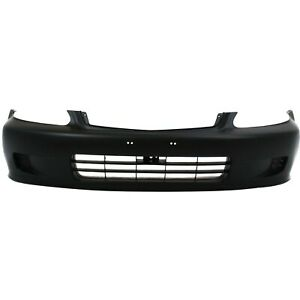 Front Bumper Cover For 99 2000 Honda Civic Primed