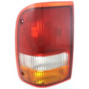Tail Light For 93 97 Ford Ranger Xl Lh Amber Clear Red Lens