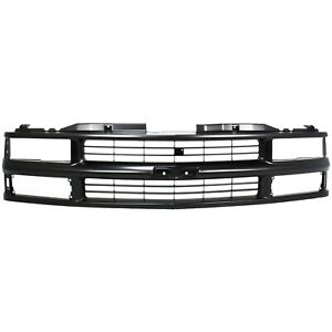 Grille For 94 99 Chevrolet K1500 C1500 Black Plastic
