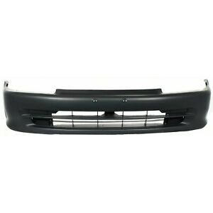 Front Bumper Cover For 92 95 Honda Civic Sedan Primed
