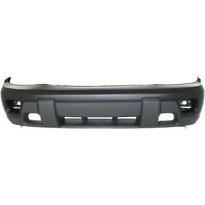 Front Bumper Cover For 2002 2007 Chevy Trailblazer With Fog Lamp Holes 88937047
