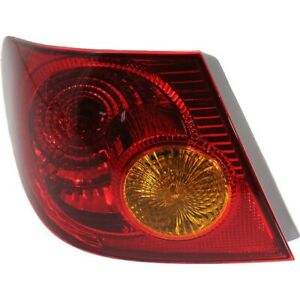 Tail Light For 2003 2004 Toyota Corolla Driver Side