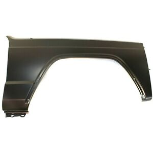 Fender For 1984 1996 Jeep Cherokee Front Passenger Primed Steel W Molding Holes