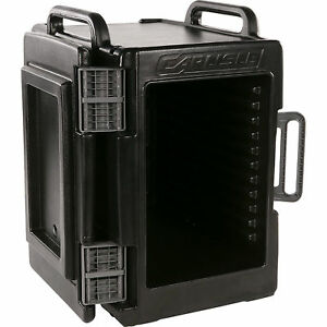 Insulated Food Pan Carrier Restaurant Black Kitchen Transport Caterer Cold Warm