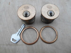 Corbin Mortise Lock Cylinders 1 1 2 Dia 1pr Keyed Alike Bronze Fin