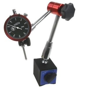 Magnetic Base Dial Indicator 1 0 0005 14 Reach Central Locking Heavy Duty