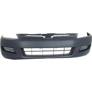 Front Bumper Cover For 2003 2005 Honda Accord Coupe Primed 04711sdna90zz