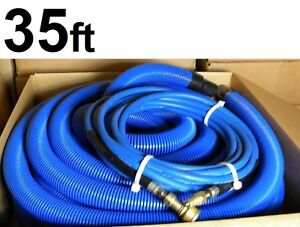 Carpet Cleaning Vacuum Solution Hoses 35 W qd And 1 1 2 Cuff For Wand
