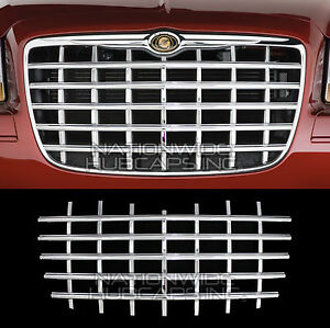 2005 10 Chrysler 300 Chrome Snap On Grille Overlay Front Grill Cover Insert Trim