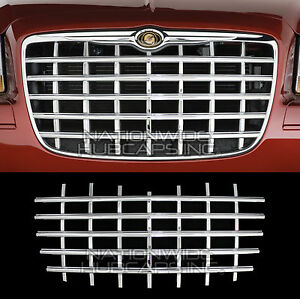 Fits Chrysler 300 2005 10 Chrome Snap On Grille Overlay Front Grill Cover Insert